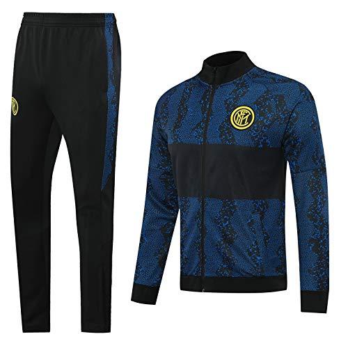 PARTAS Inter Maglia Manica Lunga Calcio Tuta da Allenamento for Adulti Sportivo Tuta Calcio Regalo Ufficiale Jacket & Pants (Size : M)