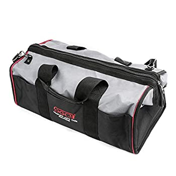 """SGCB Deluxe Car Detailing Tool Organizer Bag Ultra Oxford Fabric Polisher Bag Close Top Wide Mouth Large Capacity Detailing Buffer Polisher Bag Tool Storage Tote 20""""x11""""x11"""""""