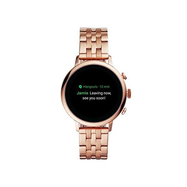 Fossil Women's Gen 4 Venture HR Heart Rate Stainless Steel Touchscreen Smartwatch, Color: Rose Gold 5-Link (Model: BQD3001)