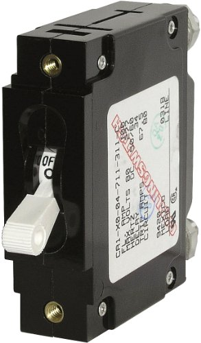 Blue Sea Systems AC/DC C-Series Single Pole Magnetic CA1 White Circuit Breakers (20 AMP)