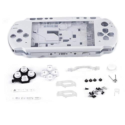 PSP Shell Case Onderdelen voor PSP 3000 Vervanging Full Housing Console Game Shell Case Cover Onderdelen PC-materialen(Wit)