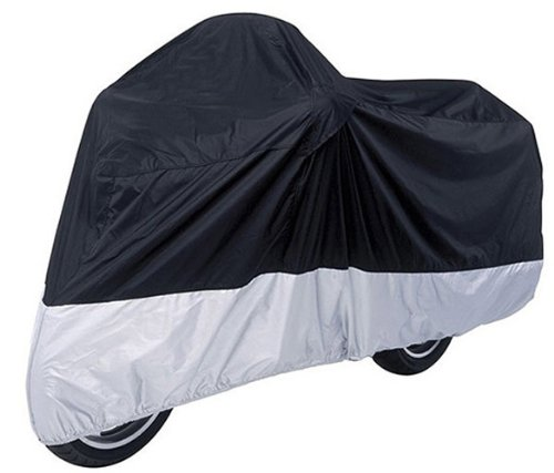 Motorcycle Cover For Kawasaki KLV 1000 / Black Sliver Motorcycle Cover L