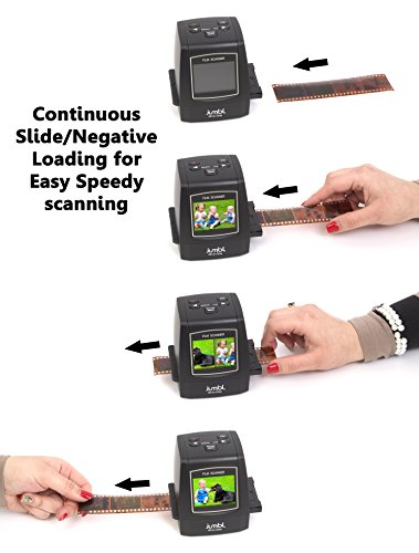 Jumbl 22MP All-in-1 Film & Slide Scanner w/Speed-Load Adapters for 35mm Negative &...