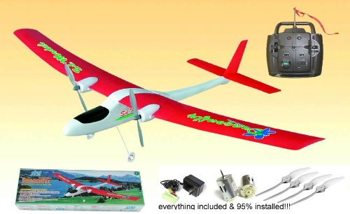 Nitro Remote Control rc Airplane 2-Channel SD Dragonfly RTF Electric Radio Remote Controlled RC Airplane