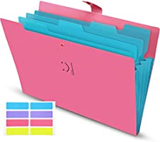 Skydue Letter A4 Paper Expanding File Folder Pockets Accordion Document Organizer