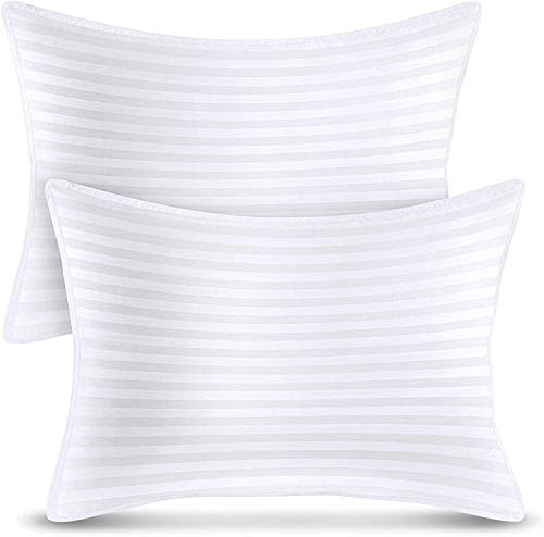 Utopia Bedding Bed Pillows (2-Pack) - Premium Plush Pillows for Sleeping - Standard Size 20 x 26 Inches - Cotton Pillows for Side, Stomach and Back Sleeper