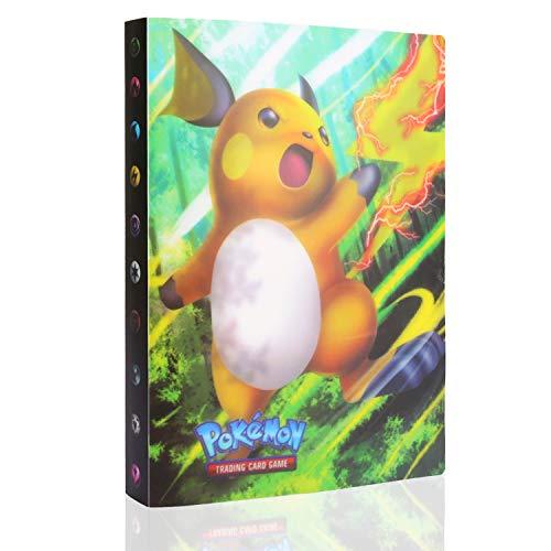 GUBOOM Álbum de Pokemon, Álbum Titular de Tarjetas Pokémon, Tarjetero Pokémon, Protector Cartas Pokemon, fundas para cartas pokemon Hasta 240 Tarjetas Capacidad (Raiciu)