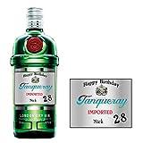 Etiqueta personalizada para botella de ginebra Tanqueray para cumpleaños, Navidad, cualquier ocasión