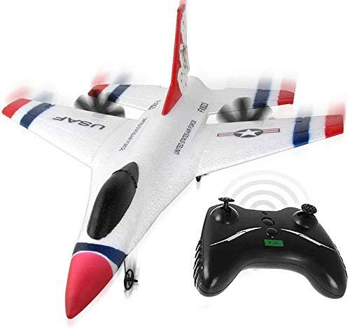 RC Segelflugzeug Flugzeug, Kontrolle Range 80 Meter, Bereit Fly, 2.4GHz Ferngesteuert Flugzeug mit Eingebauter Gyro, 823 2CH F16 Thunderbirds Fernbedienung Epp Flugzeug für Anfänger