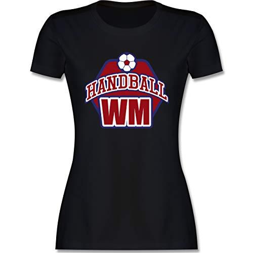 Handball WM 2019 - Handball WM 2019 - L - Schwarz - Geschenk - L191 - Tailliertes Tshirt für Damen und Frauen T-Shirt