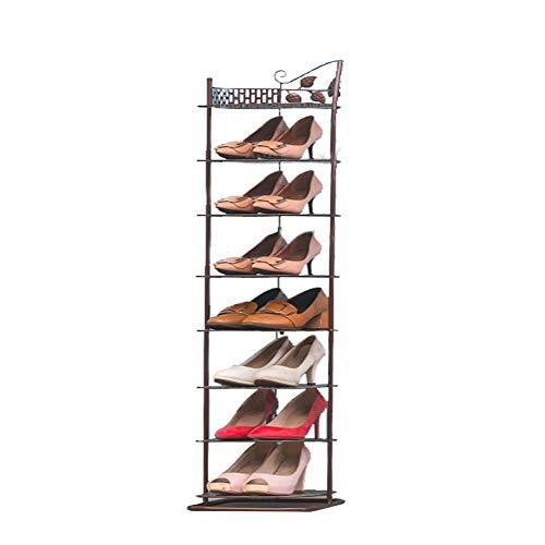 Multi-couche petite étagère à chaussures maison économie d'espace de fer forgé armoire à chaussures de stockage de poussière rack,eightlayers