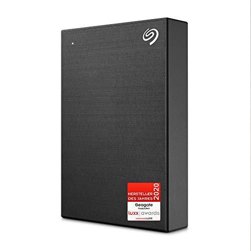 Seagate One Touch, tragbare externe Festplatte, 4 TB, PC-Notebook und Mac USB 3.0, Schwarz, 1 Jahr MylioCreate, 4 Monate Adobe Creative Cloud Photography und zwei Jahre Rettungsdienste (STKC4000410)