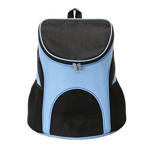 WanYanng Rucksack für Haustier,Atmungsaktiv Hunderucksack für Kleine Leichter Wanderrucksack Faltbare Dog Carrier für Spaziergänge, Geeignet für Metro Outdoor 1# blau 36 * 31 * 45 cm