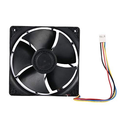 ASHATA 7000RPM Wind-Force 4 PIN Cooling Fan 250.3CFM Fast Heat Dissipation Cooling Fan for Antminer Mining