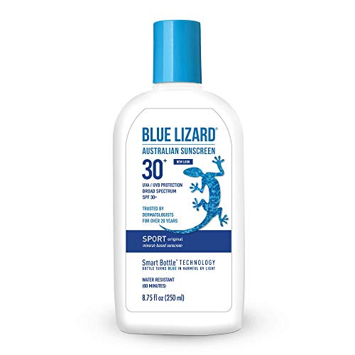 Blue Lizard Sport Original Mineral-Based Sunscreen – Original Australian Formula – SPF 30+ UVA/UVB Protection, 8.75 oz
