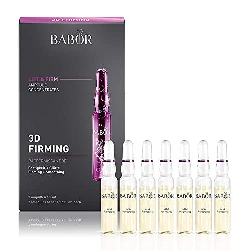BABOR AMPOULE CONCENTRATES 3D Firming, Anti Aging-Pflege mit Hyaluronsäure, reduzierter Doppelkinneffekt, glättend & festigend, 14 ml