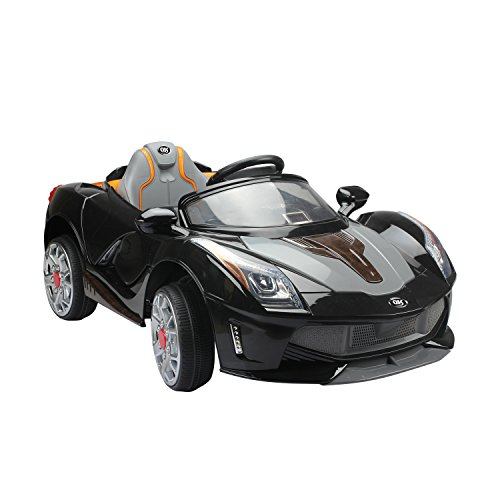 homcom Macchina Elettrica per Bambini 12V con Luci e Suoni velocità: 2.5-5 Km/h PP 130 × 71 × 52cm Nero