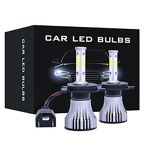 ScottDecor Parte automática de Oscaro Tesla Encendedor 2 unids 4 Lados LED LED LED Bombillas LED Auto LED HB3 HB4 HB5 880 Faro 12V 6500K H11 H4 H7 H1 H3 9004 9005 9006 9007 Tesla Encendedor