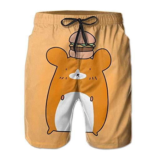 huibe Criceto Estivo da Uomo Hamburger Quick-Dry Running Swim Trunks Pantaloncini da Spiaggia Costume da Bagno Sportivo, Taglia XXL