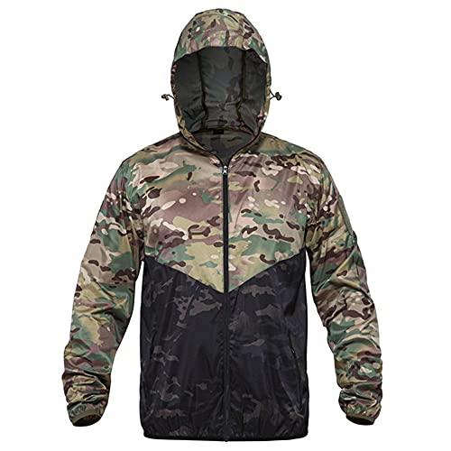 Hombres Militar Chaqueta De Secado Rápido Ultra Ligero Ejército Táctico Outwears Masculino Multi, 1, XXL