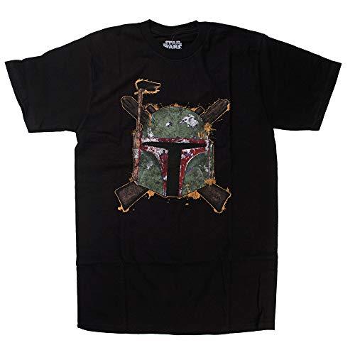 Mighty Fine Star Wars Bounty Hunter Boba Fett Rifle Cross Symbol T-Shirt