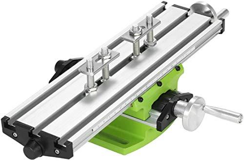 Poweka Mini multifunción fresado mesa de trabajo fresadora compuesta taladrada mesa de coordinación 310 x 90 mm