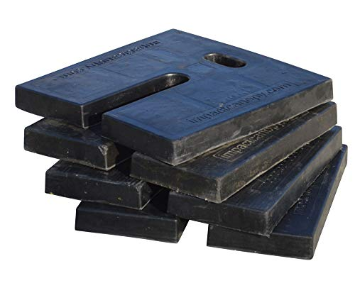 Impact Canopy Rubber Weights for Outdoor Canopy, Set of 4