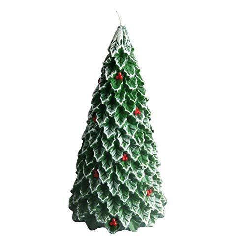 BESTOYARD Candela a Forma di Alberi di Natale Oranamenti Decorazioni Vetrina da tavola Taglia L