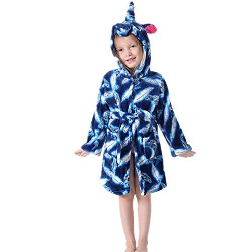 Albornoces para Niña Niño, Suave Unicornio Albornoz con Capucha Ropa de Dormir Regalos de Unicornio Bata de Baño Albornoz de Toalla Túnica de Toalla