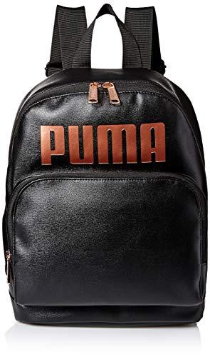 PUMA Damen Royale PU Backpack Rucksäcke, Schwarz/Rotgold, Einheitsgröße