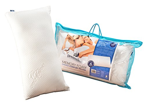 Dreamtime MFDT82099HF Memory Foam Choice Comfort Pillow, Cotton, White