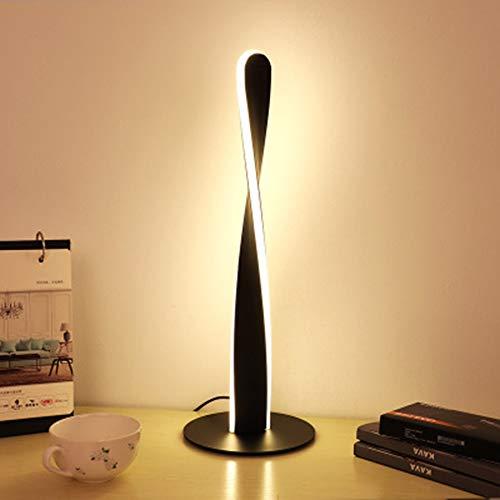 JminJC Lámpara De Mesa LED Creativa Lámpara De Mesa De Personalidad Simple Protección De Ojos De Luz Suave Atenuación Gradual para Estudio De Sala De Estar De Dormitorio Black(DimmingSwitch)