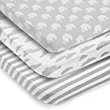 Pack n Play Sheets - Pack & Play Sheets 3er Pack - 100% Super Soft Jersey Knit Cotton Playard...