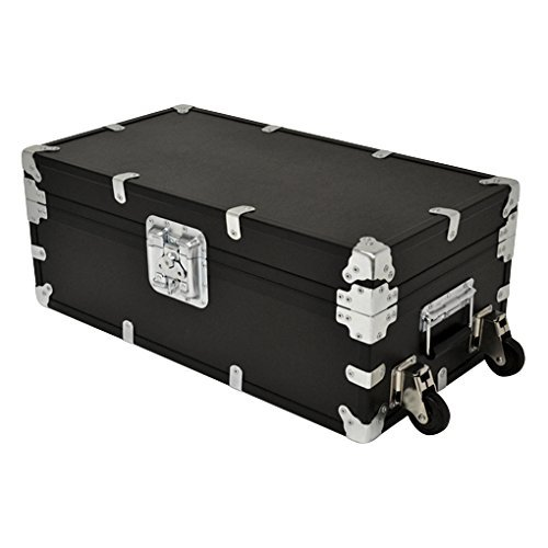 Rhino Indestructo Travel Trunk, Large – Foot Locker Style Reusable Storage Container for UPS/FedEx/Amazon Shipping, Military Deployment, Tradeshows and More; Strong, Durable and Secure
