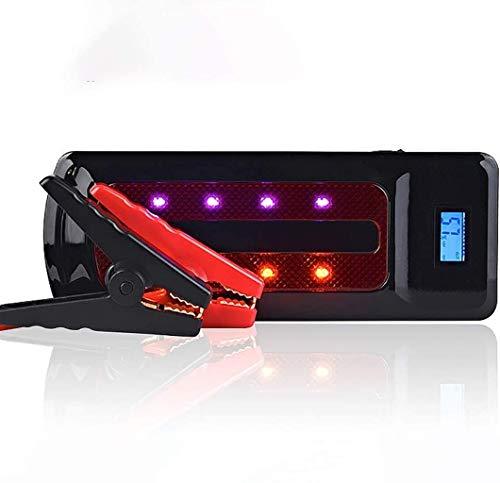 METDEK Batería externa para coche de 800 A, con 3 dispositivos USB y LED Luci
