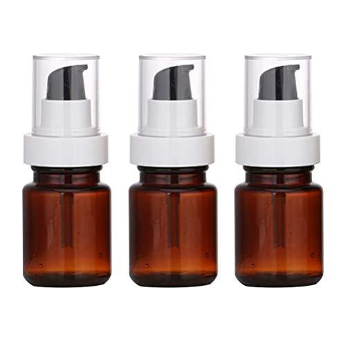 TOPBATHY 3 Pcs 60 Ml Vide Pompe Bouteilles Huile Essentielle Parfum Essence Distributeurs Liquide Lotion Flacons Maquillage Cosmétique Stroage Bouteilles