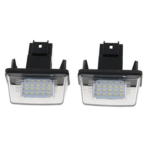 Gazechimp 2pcs SMD 3528 LED Ampoules Feux De Plaque D'immatriculation pour Citroen C3 / I & II / 2002-2009