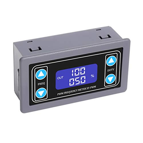 WHDTS Adjustable Signal Generator, 1Hz-150KHz 1-Channel PWM Pulse Frequency DC 3.3V-30V 5-30mA LCD Display Module
