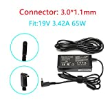 19V 3.42A 65W AC Adapter Charger for Acer Chromebook C720 C720P C720-2848 C740 C738T C910 CB3-431 CB3-111 CB3-532 CB3-131 CB3-531 CB3-111-C670 CB3-532-C47C CB5-571 P/N:A13-045N2A PA-1450-26 PA-1650-80