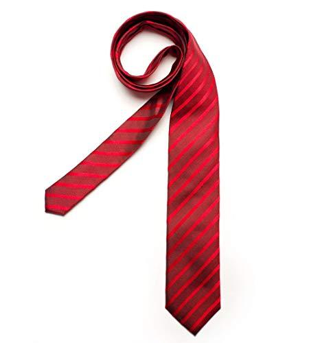 DIGEL Krawatte Galo in Rot gestreift, Größe: