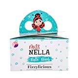 Miss Nella FIZZYLICIOUS, 3 Bath Fizzers Pack for Kids- Hypoallergenic & Fragrance Free, Safe & Fun. 3 Colourful Bath Bombs- Pink A Boo- Pink, Little Poppet- Purple, Bubble Gum- Lilac.