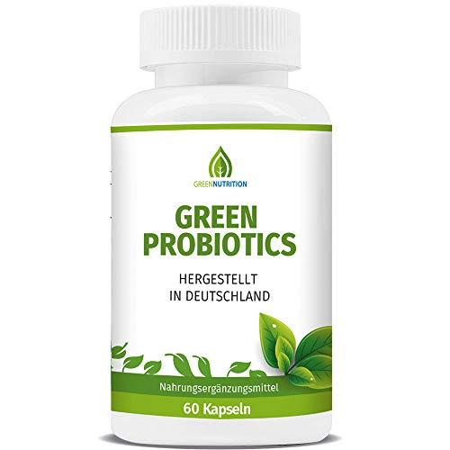 Green Probiotics - Darmsanierung Kapseln zur Unterstützung der Verdauung und der Gesundheit - Probiotika Kapseln - Hergestellt in Deutschland, 60 Kapseln