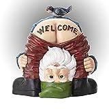 Estatua de gnomo de jardín, de Joycabin, nalgo, signo de bienvenida, escultura divertida, de resina, figuras de gnomo, dibujos animados, bienvenida, gnomo gnomo, resina artesanal, decoración de jardín