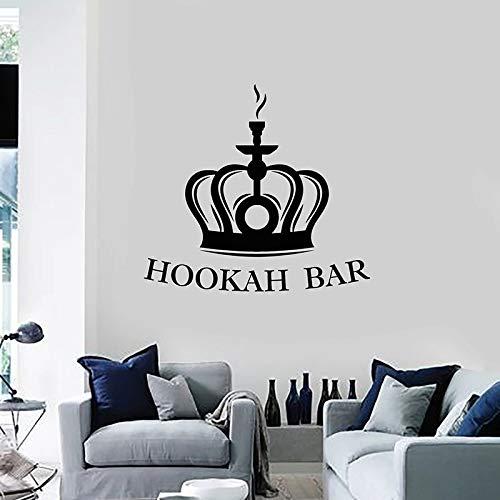 WERWN Hookah Bar Pared calcomanía salón Corona Fumar café Bar decoración Interior Puertas y Ventanas Vinilo Adhesivo Arte Mural