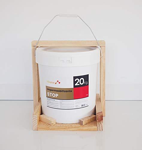 Revestimiento Elástico Impermeabilizante Stop · Pintura para Impermeabilizar parámetros horizontales en Terrazas, Azoteas, Balcones y Tejados · Color Rojo Teja · 20 Kg (16,6 L)