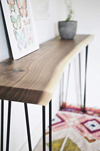 Live Edge Walnut Console Table - Any Size - Handmade Black Walnut Sofa Table Mid Century Modern Entry Table Farmhouse Table