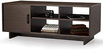 Mellcom Mid-Century Modern TV Stand with Storage Shelf
