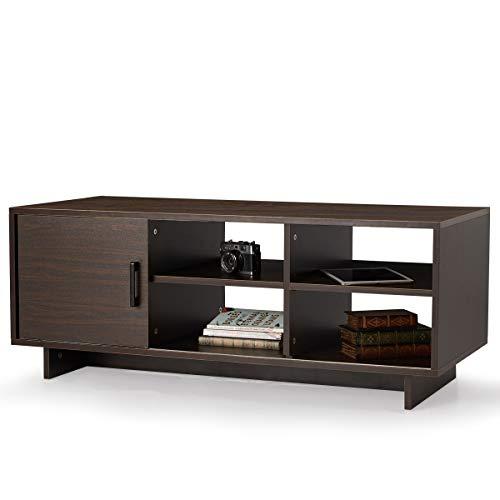 MELLCOM TV Stand, Mid-Century Modern TV Stand with Storage Shelf $58.99 (Retail $78.99)