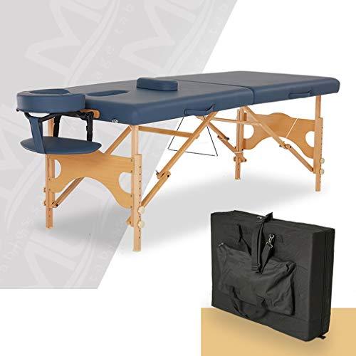 YCDJCS Cama de Belleza portátil Ligera Plegable para el hogar con reposabrazos para el salón de Tratamiento de la Terapia de Reiki Sillas y taburetes (Color : Gray, Size : 184 * 71 * 59-81 cm)