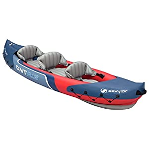 Sevylor Tahiti Plus 2+1 Man Canadian Canoe Inflatable Sea Kayak, 361 x 90 cm